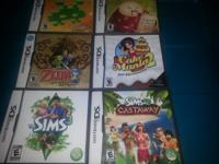 Nintendo ds games:  $5 each or 3 for $10!  Zelda