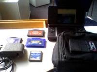 Selling a Nintendo DS Lite Cobalt/Black  Comes with: