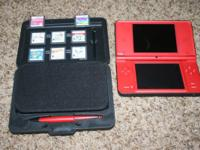 This listing is for a red DSIXL hand held touch screen
