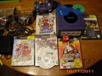 Nintendo Gamecube (Purple in color), Has three