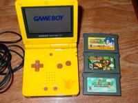 "Available is this Nintendo GameBoy Advance SP ""Pokemon"""