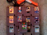 17 Nintendo Games and 1985 NES Zapper all works