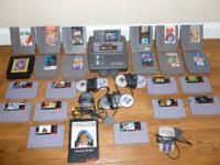 This is a large lot of different Nintendo related items