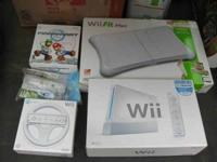 Included: White Classic Nintendo Wii Console Wii-fit
