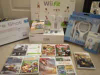 Nintendo Wii package. Consists of one wii, wii fit