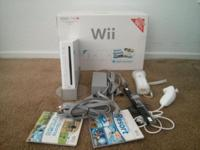 For sale is a gently used Nintendo Wii Bundle which is