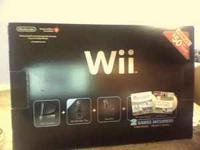 selling a balck nintendo wii. bought in december of