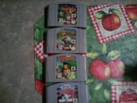 nintindo 64 games Banjo kazooie$20 firm Mario cart $20