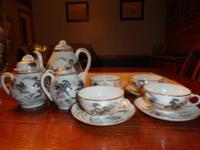 "11 piece Nippon Tea Set, marked ""China TE-OH Hand"