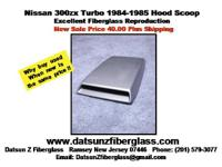 Nissan 300ZX Turbo Hood Scoop (1984-1985) Fiberglass.