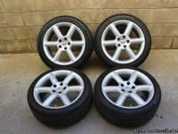 2005 Nissan 350z stock wheels & tires.  Rims have