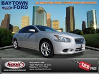 You can't go wrong with this silver 2013 Nissan Maxima