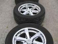 "Up for sell are 4, 20"" chrome wheels and Kumo Ecsta"