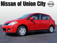 Feast your eyes on this red 2012 Nissan Versa 1.8 S! It