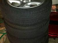 i got 4 wheels with tires for sale. got brand-new ones