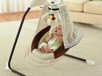 Nite Nite Monkey Fisher Price Starlight Cradle Swing-