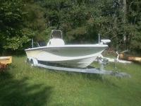 Nitro center console boat with a 150 Mercury outboard,