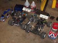 2 4x4 rc cars for sale, both are race ready. the revo