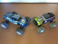 Duratrax WarHead and Traxxas T-Maxx 2.5 R.  There are