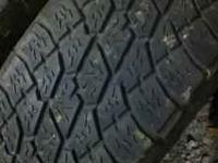 275/55/20 nitto grapplers. 1/4 or alittle better tread