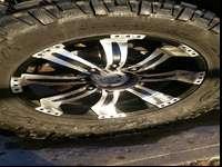 8-179 20x9 incubus wheels, 37x12.50R-20 Nitto Mud