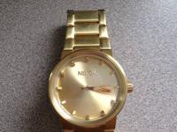 I have a gold cannon watch from Nixon. It's an