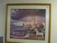 THIS IS A BEAUTIFUL PICTURE DEPICTING NOAH'S ARK. HAS A