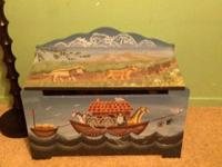 Hand painted toy chest.