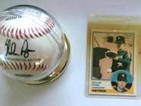 Nolan Ryan Commemorative Baseball with Nolan Ryan