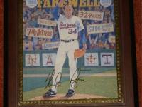 For sale is one (1) NOLAN RYAN FAREWELL SCUPTURE. The