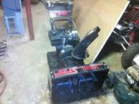 noma track snowblower very little use great condition