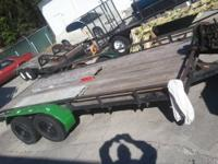 NOMFR 6X12 TRAILER FLAT BED WITH 2 RAMP - FOR CARS OR