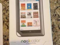 Like new Nook Color 8 in for sale. Only used a few