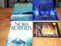 Books for sale!! 4 Nora Roberts books $10 for all 4.