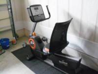 For sale a very nice nordiac track audiorider recumbent