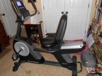 Nordictrack GX 5.0 Pro Recumbent Bike used less than 5