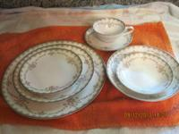 Noritake China. Pattern is 5906 Garland. 10 place