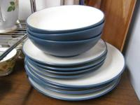 NORITAKE COLORWAVE 8484 PLATES & BOWLS SET OF 11 -