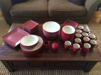 Noritake Colorwave Raspberry dishes for sale. $150 OBO.