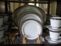 """Crestwood Platinum is a pure white porcelain china"