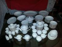 12 pc. set complete- ivory color with gold trim-