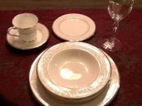 "Noritake ""Silver Palace"" 5 Piece Place Setting."