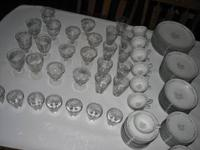 124 Pieces total, china and crystal Beautiful 1960's