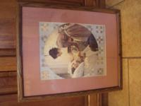 "Norman Rockwell framed matted picture titled""Mother"