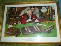"NORMAN ROCKWELL PRINT ""THE COLLECTOR"". DEDICATED TO THE"