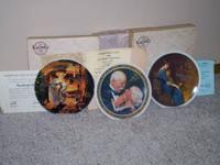 "Norman Rockwell collectible plates - ""1979 Somebody's"