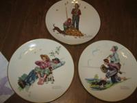 Normal Rockwell Seasons plates. From the Four Seasons