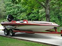 This is one sweet 1992 Norris Craft 20' deep V boat