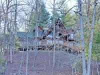 Lake Nottely Mountain home on deep water! 4 bedroom,