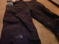 Black North Face Snowboard pants size large. used once,